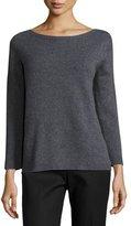The Row Juliette Bracelet-Sleeve Cashmere Sweater, Dark Gray