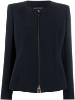 Giorgio Armani zipped fitted jacket