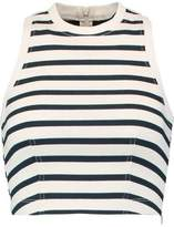 Alexander Wang Cropped Striped Cotton Top