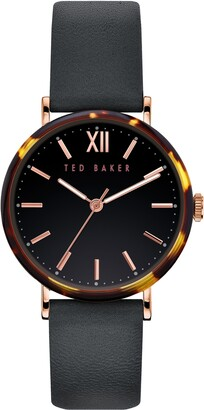 Ted Baker Phylipa Leather Strap Watch, 37mm
