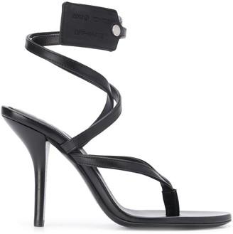 Off-White Zip-Tie Tag Strappy Sandals