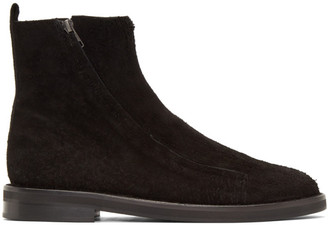 Ann Demeulemeester Black Suede Roccia Zip Boots