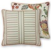 Rose Tree Lisburn Striped & Floral Herringbone Square Pillow