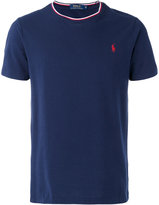 Polo Ralph Lauren logo tricolour trim T-shirt - men - Cotton - S