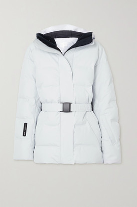 Ienki Ienki Sheena Hooded Belted Quilted Down Ski Jacket - Off-white
