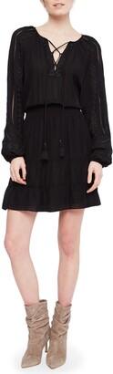 Parker Anaelle Long Sleeve Silk Blend Peasant Dress