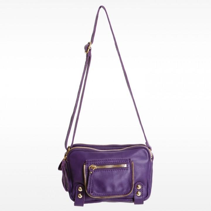 Linea Pelle Dylan Triple Zip Shoulder Bag