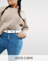 Asos Jeans Belt In White