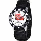 Disney Lightning McQueen Boys' Stainless Steel Watch, Black Strap