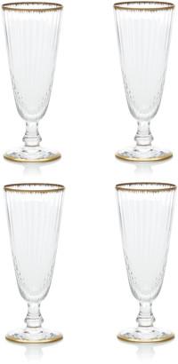CABANA CAPRI GSTAAD Set Of 4 Murano Flame Champagne Flute