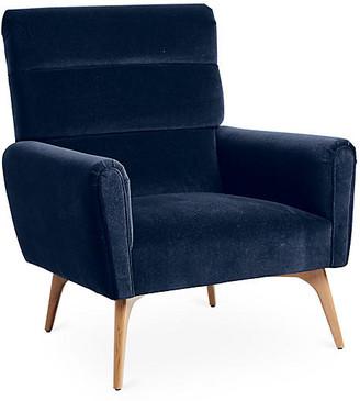 Kim Salmela Devon Accent Chair - Indigo Velvet