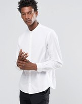 Celio Slim Fit Shirt with Grandad Collar
