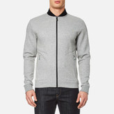 BOSS GREEN Men's Sariq Bomber Sweatshirt Open Grey