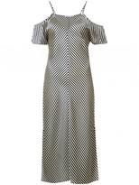 Alexander Wang Stripe Cold Shoulder Dress