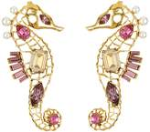 Oscar de la Renta Seahorse Crystal Earrings