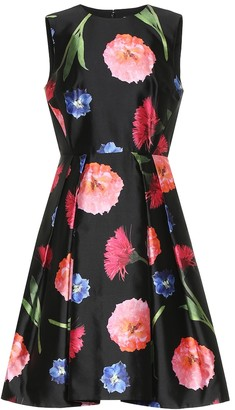 Carolina Herrera Floral silk and cotton minidress