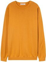 Meters/bonwe Men's Basic Round Neck Long Sleeve Solid Pullover Sweater, L