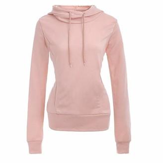 Rikay Women Hoodies Rikay Womens Hooded High Neck Pocket Plus Size Hoodies Plain Sweatshirts Coat Tops Jacket 5 Colors S-2XL Gray