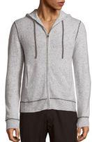 Saks Fifth Avenue BLACK Speckled Cashmere Hooded Jacket