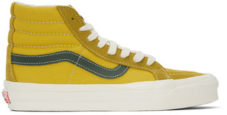 Vans Yellow and Green OG Sk8-Hi LX Sneakers