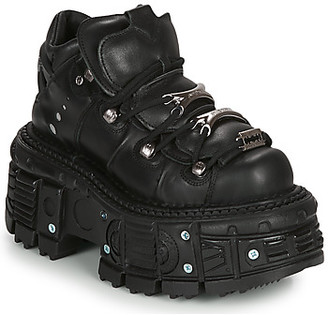 New Rock MILO women's Mid Boots in Black