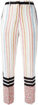 No.21 printed cropped trousers - women - Silk - 40