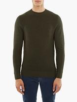 A.P.C. Green Wool Claude Sweater