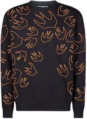 McQ Swallow Outline Sweatshirt
