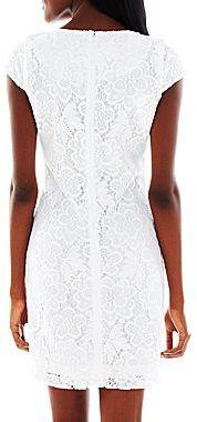 JCPenney 9 & Co.® Lace Shift Dress - Petite