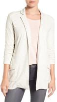 Caslon Open Front Knit Jacket (Petite)