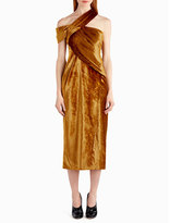 Jason Wu One-Shoulder Velvet Cocktail Dress