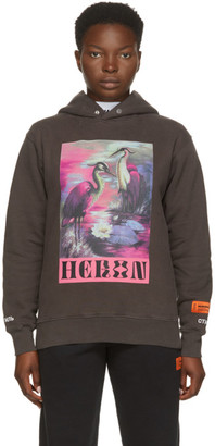 Heron Preston Grey Heron Birds Hoodie
