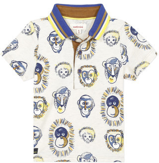 Catimini ANAELE boys's polo shirt in Beige