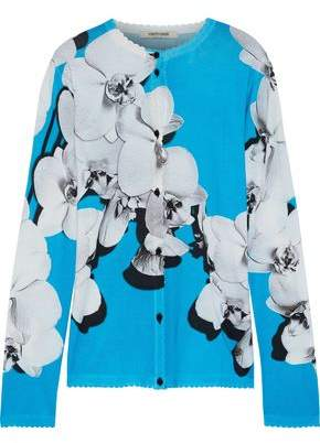 Roberto Cavalli Floral-print Wool, Cashmere And Silk-blend Cardigan