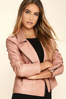MinkPink Mink Pink Deputy Pink Vegan Leather Moto Jacket