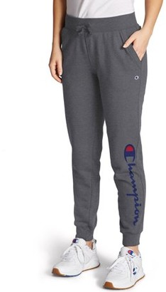 Champion Women's Powerblend Fleece Joggers-Graphic