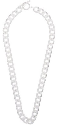 All Blues - Moto Curb-chain Sterling-silver Necklace - Silver