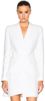 Alexandre Vauthier Crepe Double Breasted Blazer in White.