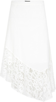 Oxford Pippa Lace Panel Skirt Off White X