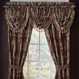 Croscill Bradney 33-Inch Waterfall Window Curtain Valance in Red/Gold