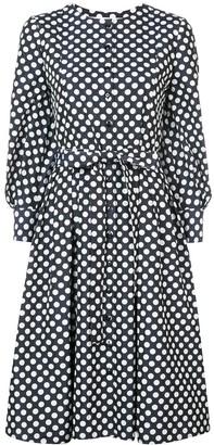 Carolina Herrera polka-dot flared midi dress