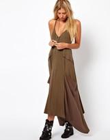 ASOS Maxi Dress With Drape Pockets.
