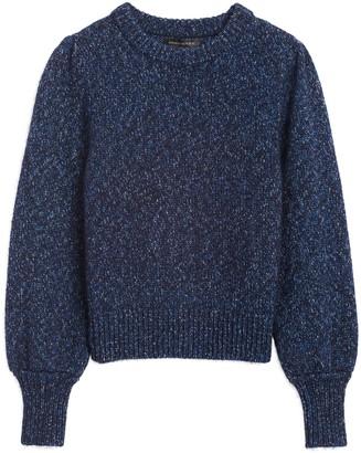 Banana Republic Petite Metallic Puff-Sleeve Sweater