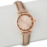 Women's Metallic Strap Watch - Rose Gold