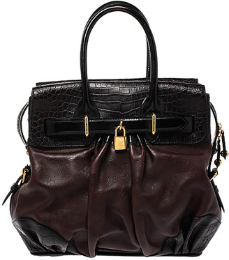 Louis Vuitton Moka Monogram Leather and Alligator Limited Edition Les Extraordinaires City Steamer Bag