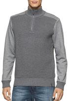 Calvin Klein Jeans Quarter Zip Ottoman Tube Mixed Gauge Sweater