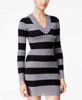 Planet Gold Juniors' Striped Sweater Dress
