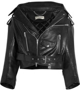 Balenciaga Swing Leather Biker Jacket - Black