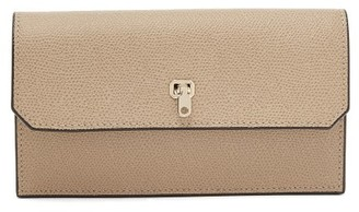 Valextra Grained-leather Continental Wallet - Womens - Grey