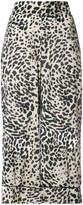 Smythe leopard print cropped palazzo pants